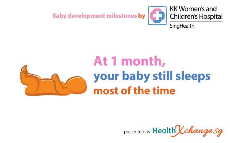 Baby Development Milestones: 1 Month Old