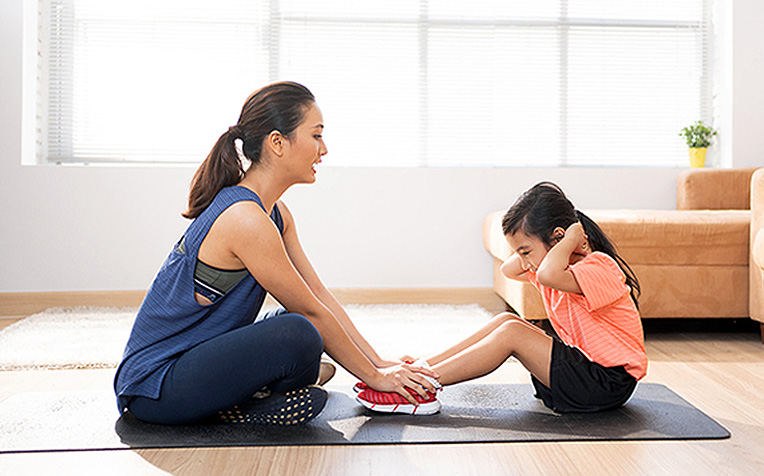 Strengthening Exercises for Children - Trunk (Active Assisted)