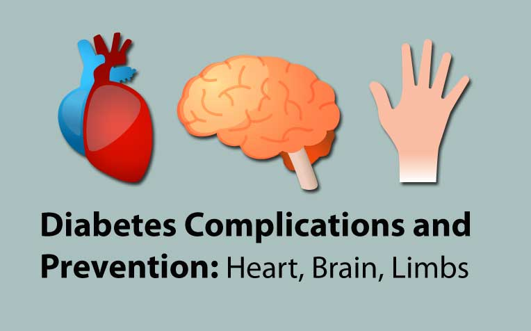 Diabetes Complications and Prevention:  Heart, Brain, Limbs