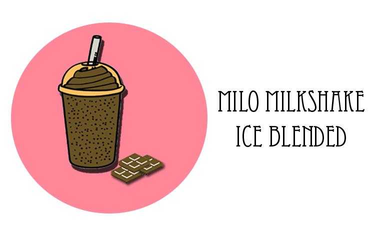 Milo Milk Shake Ice Blended