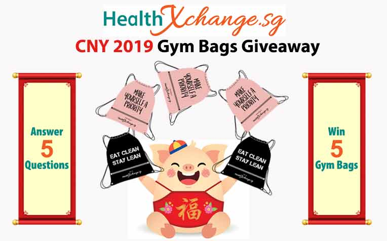 ​HealthXchange CNY 2019 Gym Bags Giveaway