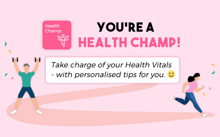 Be a Health Champ with Health Champ!